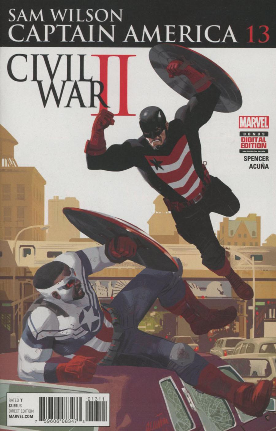 Captain America Sam Wilson #13 Cover A Regular Daniel Acuna Cover (Civil War II Tie-In)