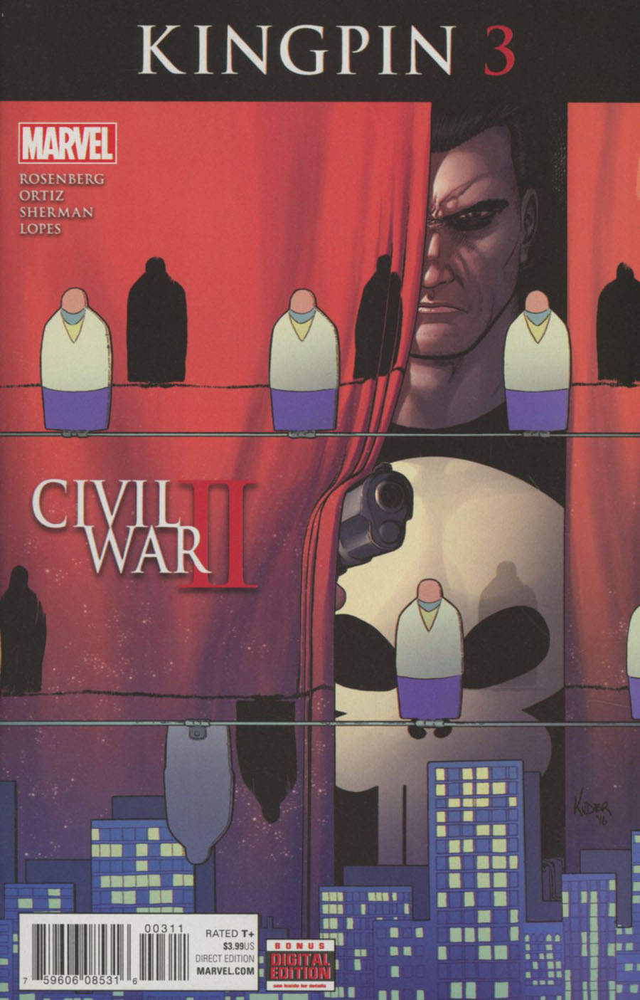 Civil War II Kingpin #3 Cover A Regular Aaron Kuder Cover