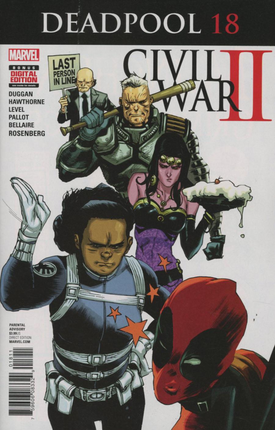 Deadpool Vol 5 #18 Cover A Regular Rafael Albuquerque Cover (Civil War II Tie-In)