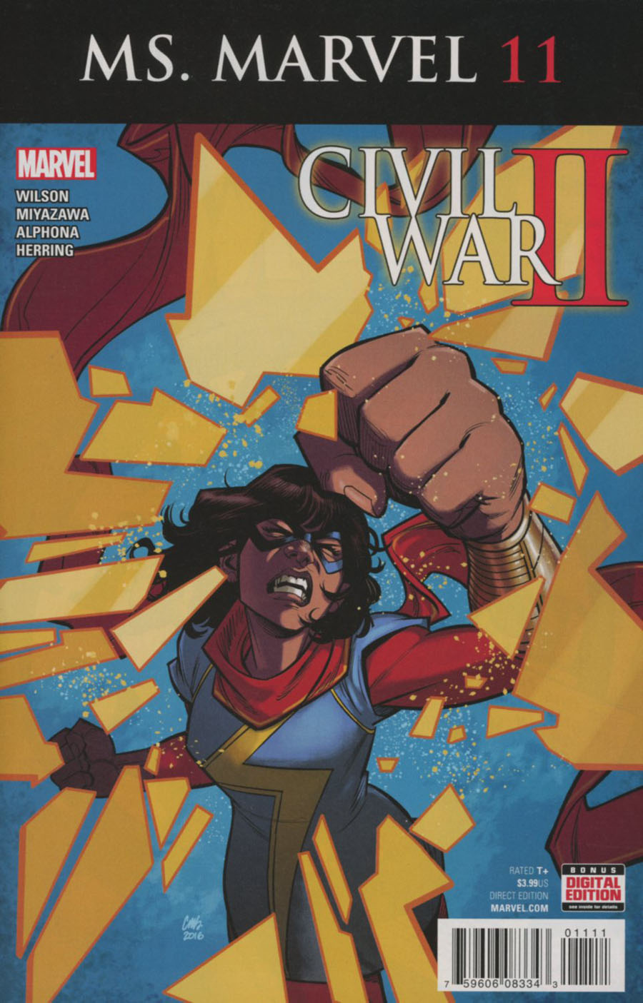 Ms Marvel Vol 4 #11 Cover A Regular Cameron Stewart Cover (Civil War II Tie-In)