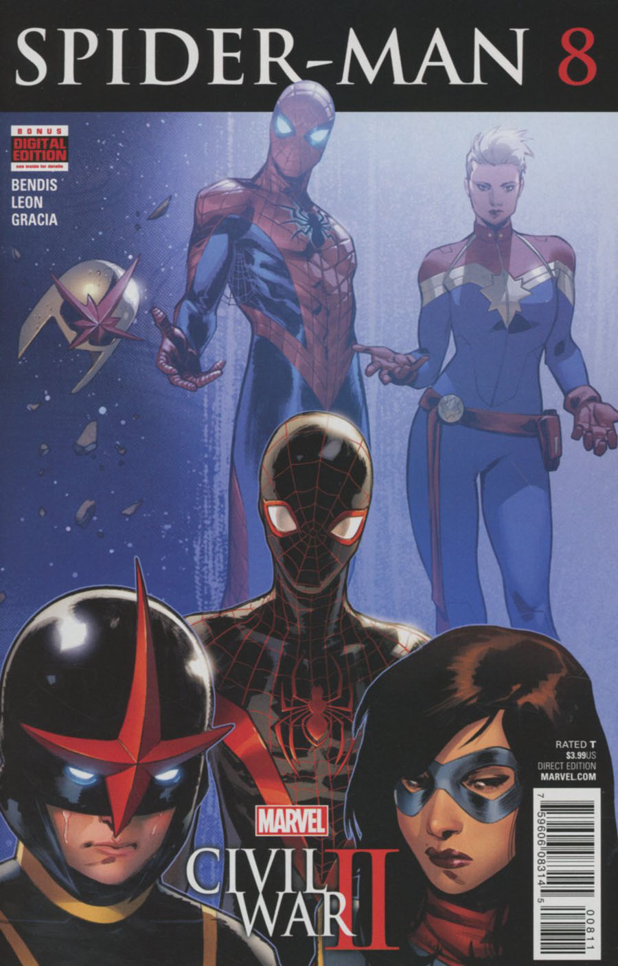 Spider-Man Vol 2 #8 Cover A Regular Sara Pichelli Cover (Civil War II Tie-In)