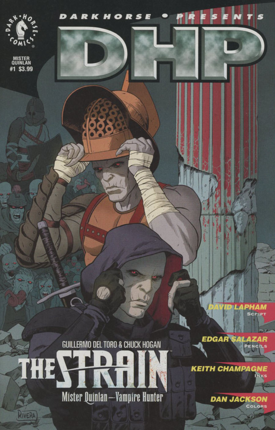 Strain Mr Quinlan Vampire Hunter #1 Cover B Variant Paolo Rivera Dark Horse 30th Anniversary Cover