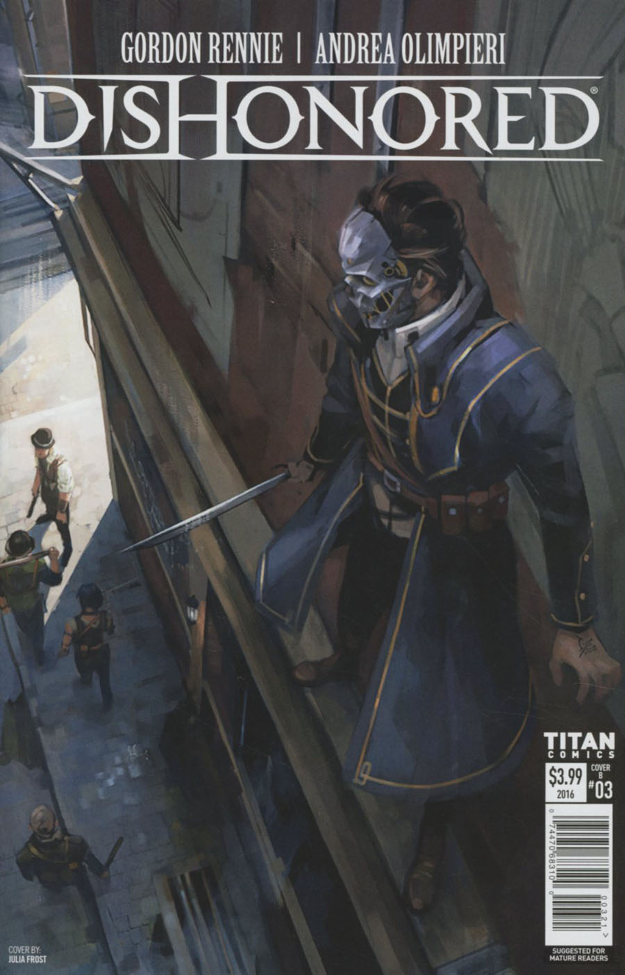 Dishonored #3 Cover B Variant Julia Frost Cover