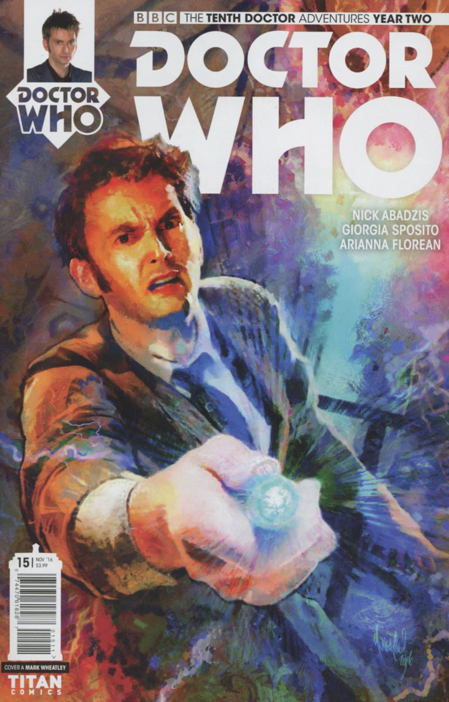 Doctor Who 10th Doctor Year Two #15 Cover A Regular Mark Wheatley Cover