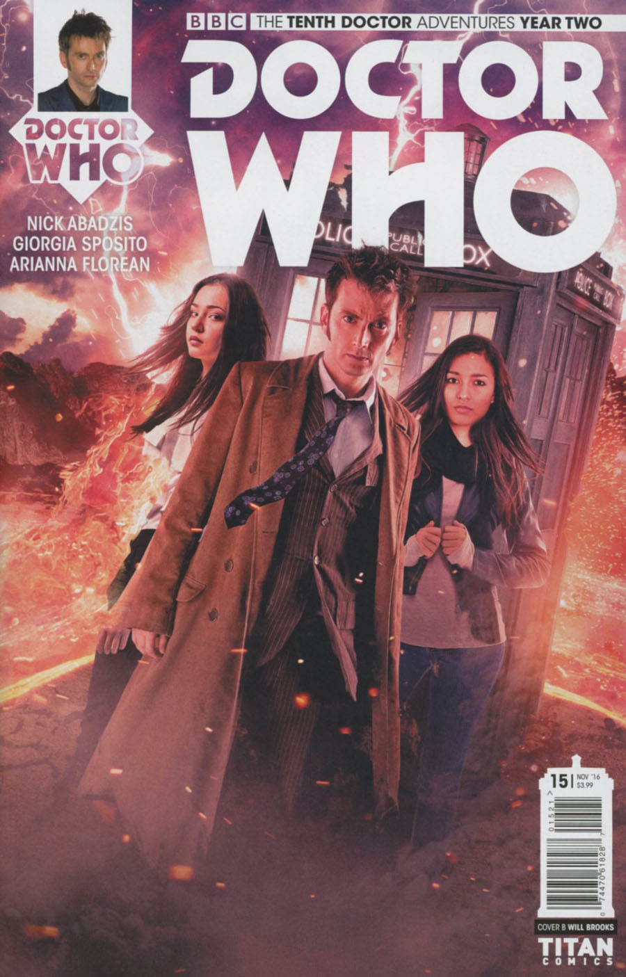 Doctor Who 10th Doctor Year Two #15 Cover B Variant Photo Cover
