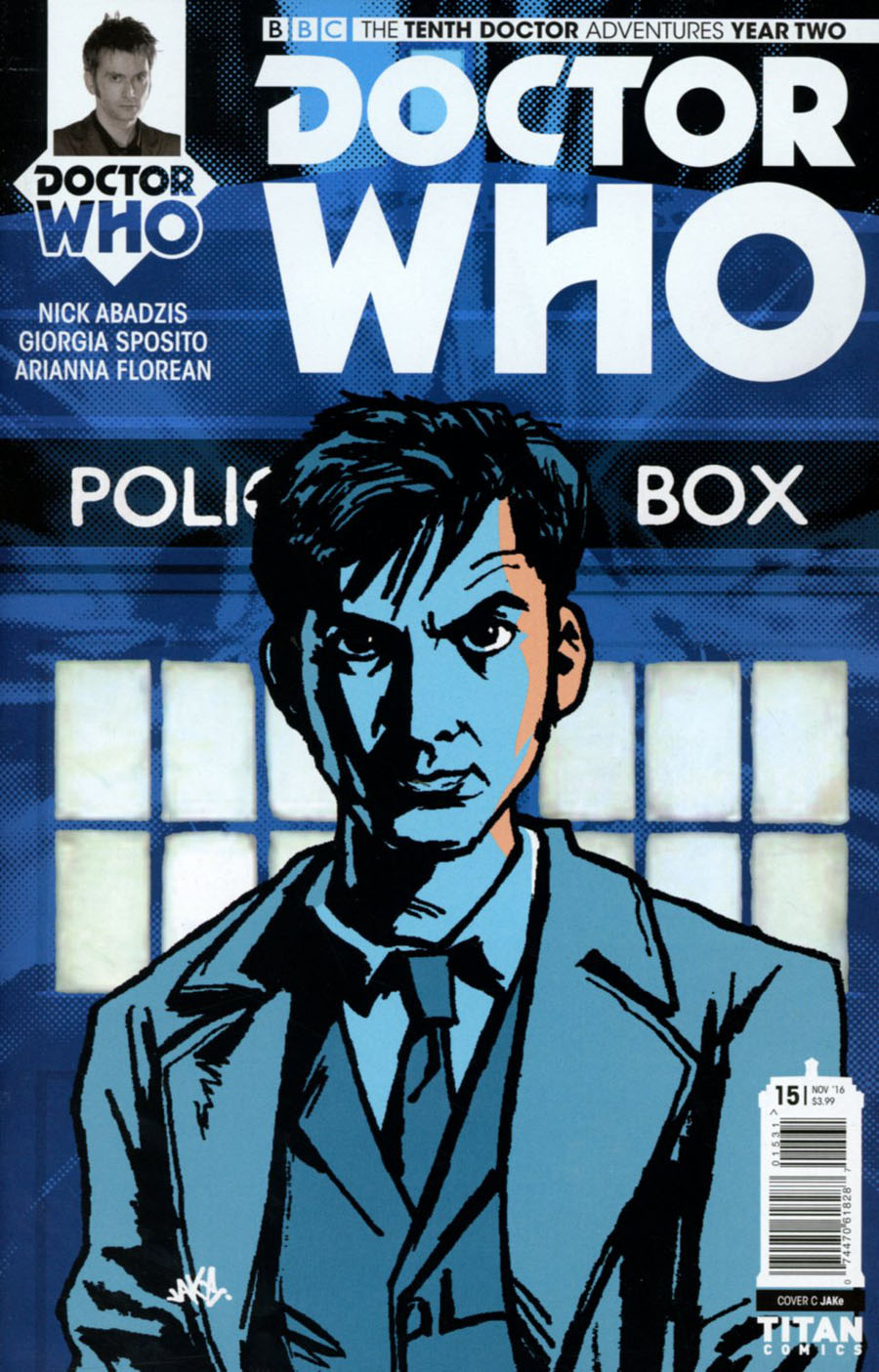 Doctor Who 10th Doctor Year Two #15 Cover C Variant Jake Cover