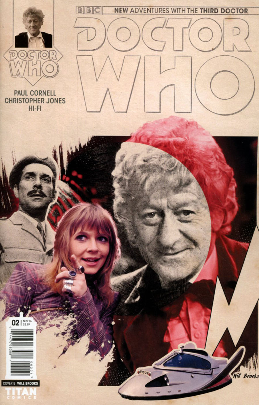 Doctor Who 3rd Doctor #2 Cover B Variant Photo Cover