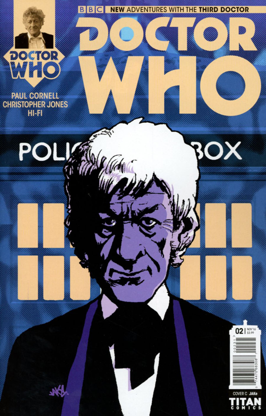 Doctor Who 3rd Doctor #2 Cover C Variant Jake Cover