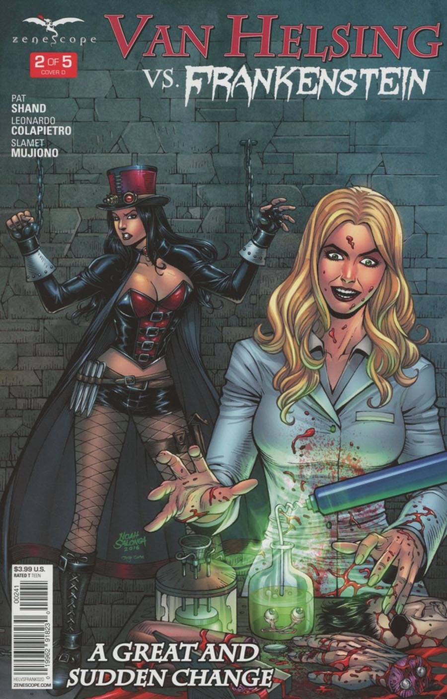 Grimm Fairy Tales Presents Van Helsing vs Frankenstein #2 Cover D Noah Salonga