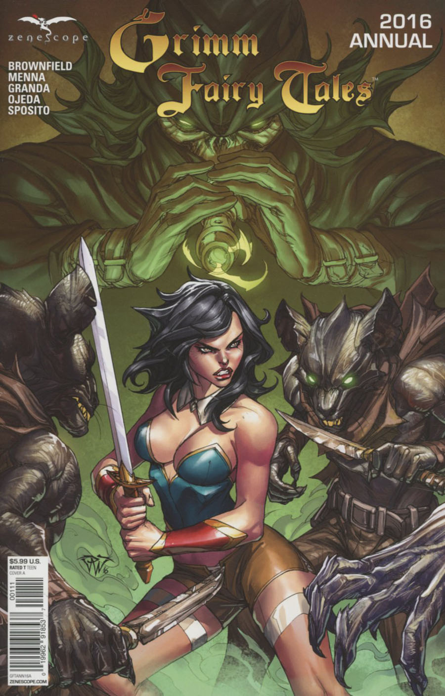 Grimm Fairy Tales Annual 2016 Cover A Paolo Pantalena