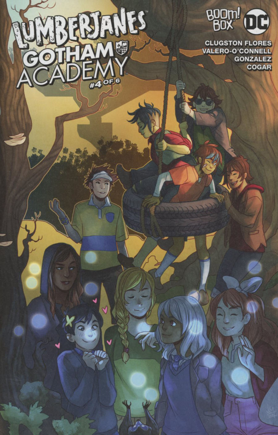 Lumberjanes Gotham Academy #4 Cover B Variant Kelly Matthews & Nichole Matthews Subscription Cover