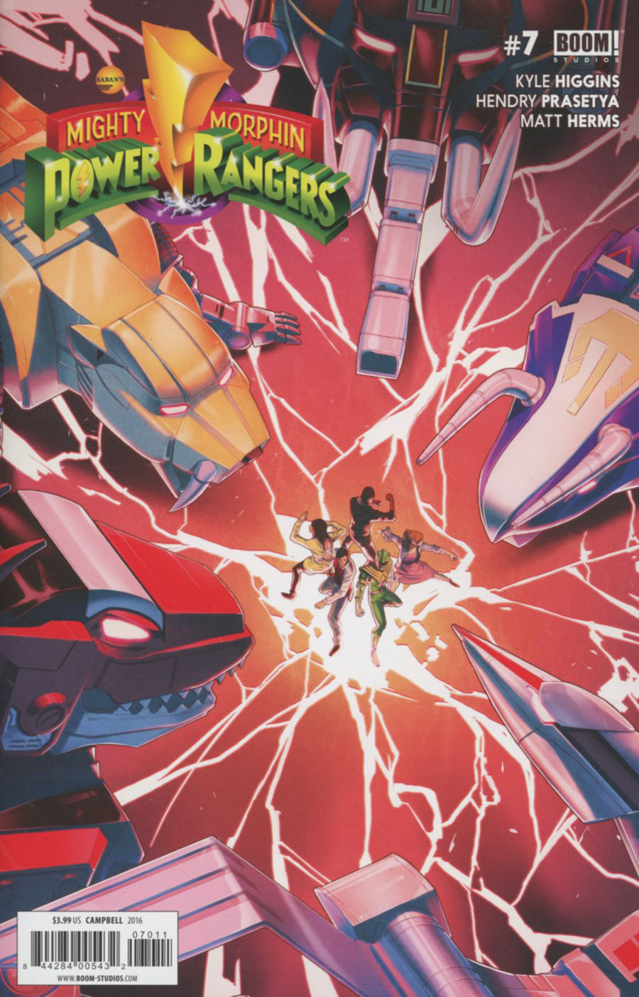 Mighty Morphin Power Rangers (BOOM Studios) #7 Cover A Regular Jamal Campbell Cover