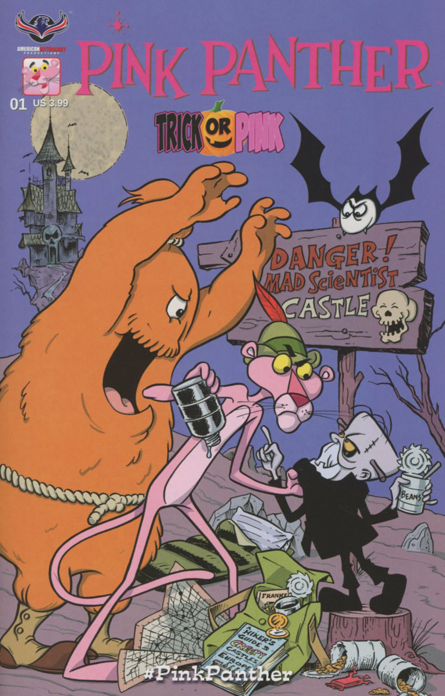Pink Panther Trick Or Pink #1 Cover C Variant SL Gallant Pink Hijinks Cover