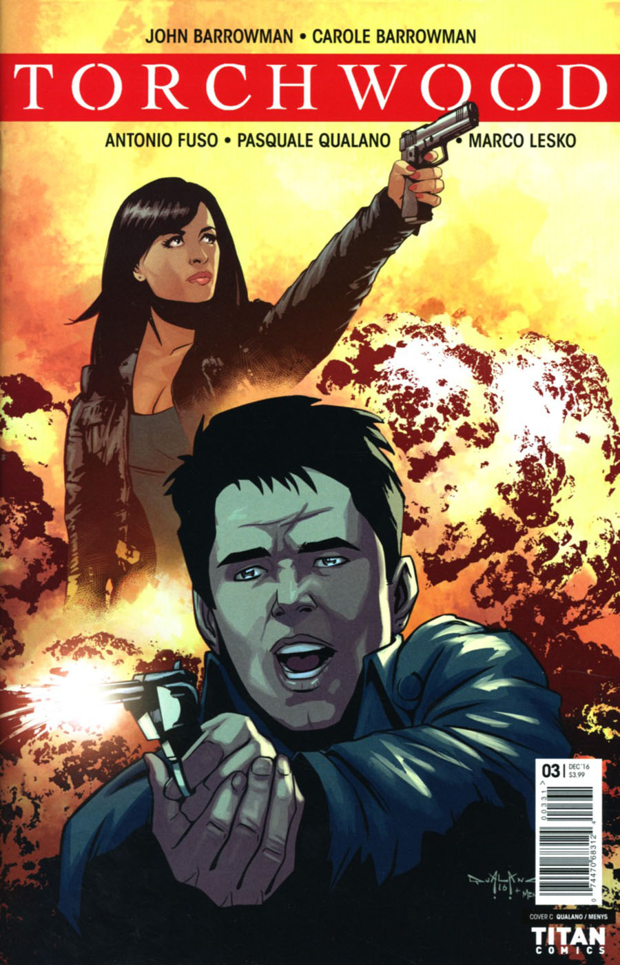 Torchwood Vol 2 #3 Cover C Variant Pasquale Qualano Cover
