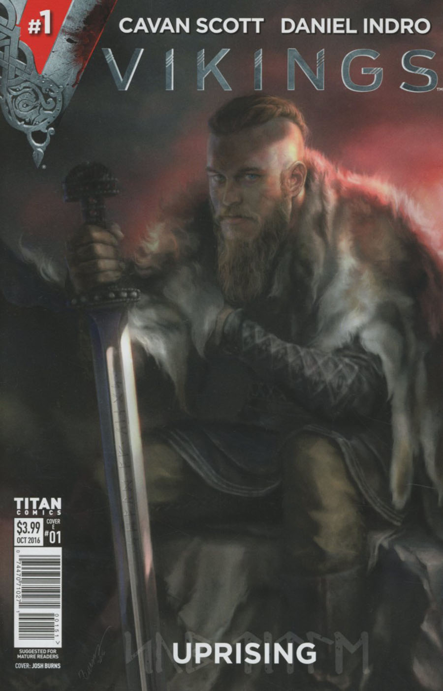 Vikings Uprising #1 Cover E Variant Josh Burns Cover