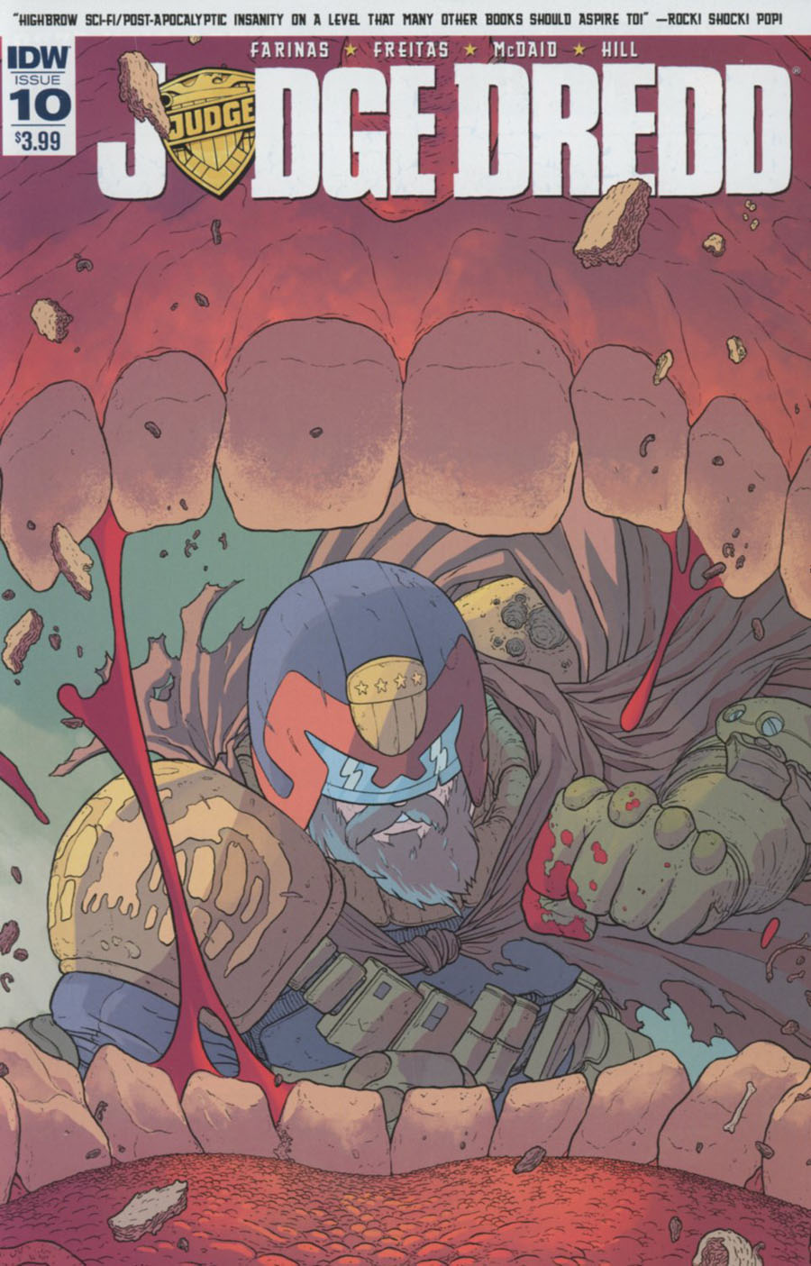 Judge Dredd Vol 5 #10 Cover A Regular Ulises Farinas Cover