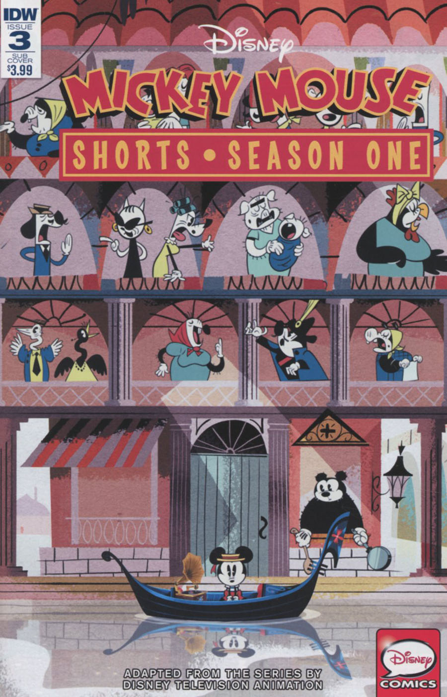 Mickey Mouse Shorts Season 1 #3 Cover B Variant Animation Art Subscription Cover