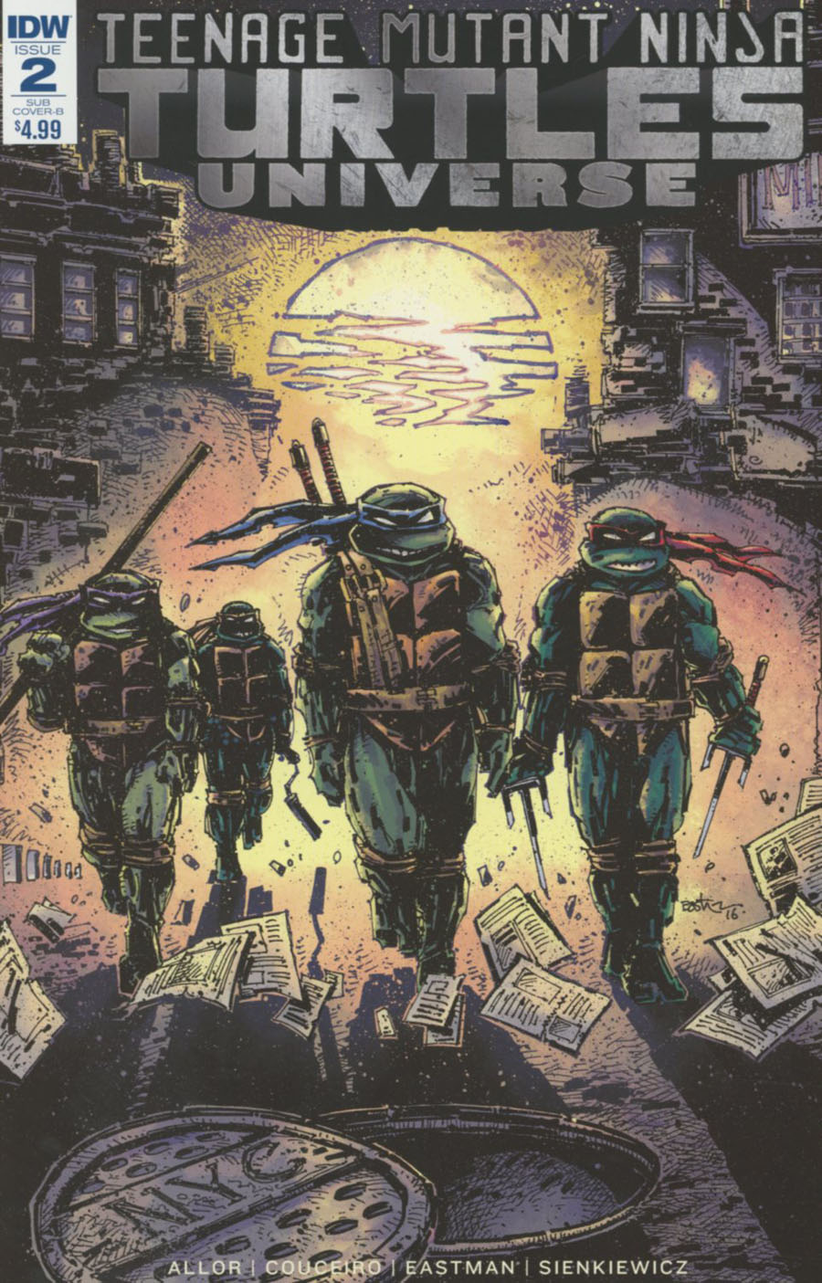 Teenage Mutant Ninja Turtles Universe #2 Cover C Variant Kevin Eastman Cover