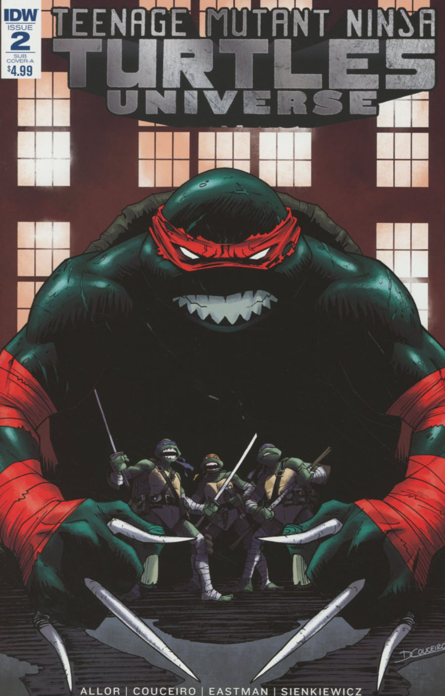 Teenage Mutant Ninja Turtles Universe #2 Cover B Variant Damian Couceiro Subscription Cover