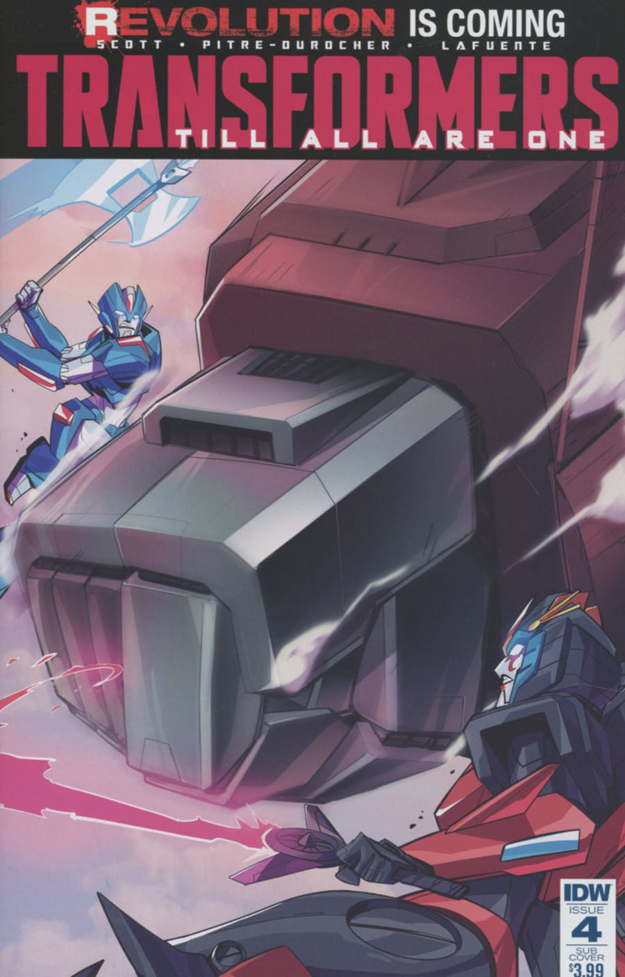 Transformers Till All Are One #4 Cover B Variant Priscilla Tramontano Subscription Cover (Revolution Tie-In)