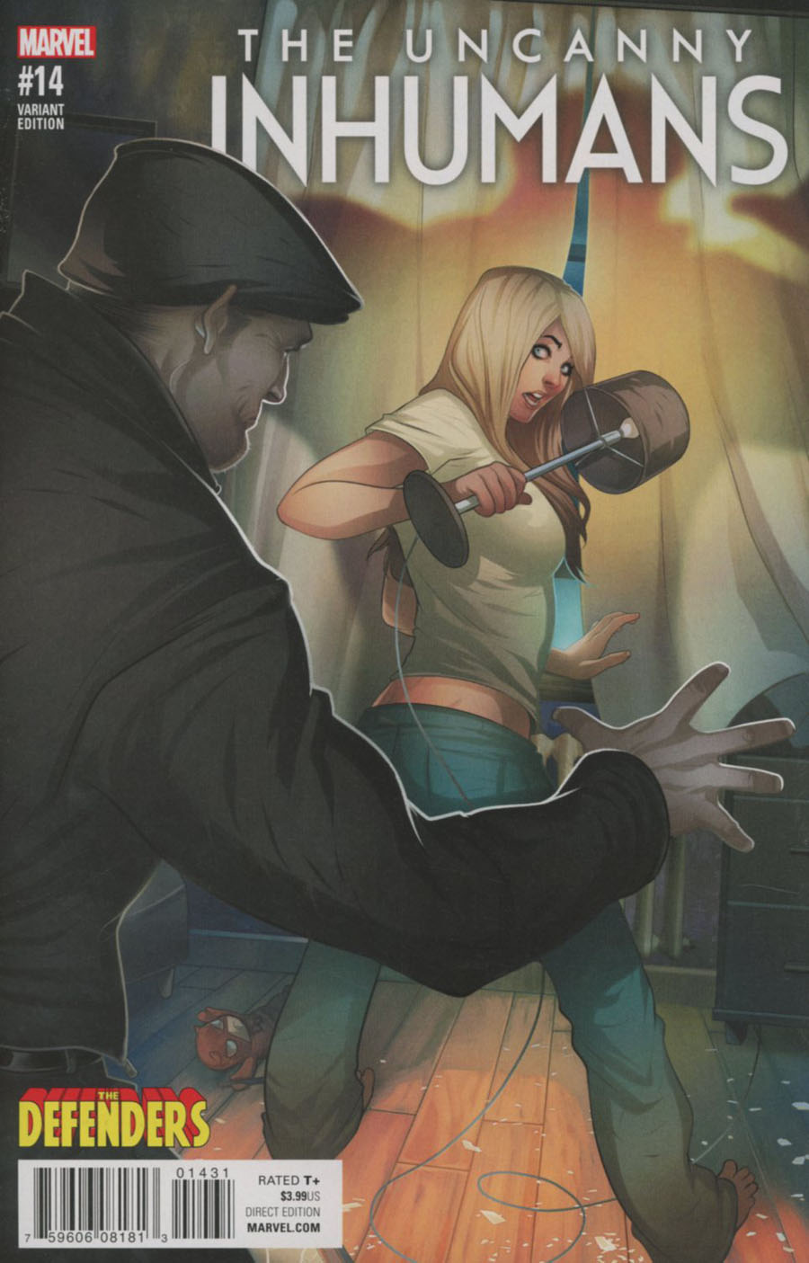 Uncanny Inhumans #14 Cover B Variant Elizabeth Torque Defenders Cover (Civil War II Tie-In)
