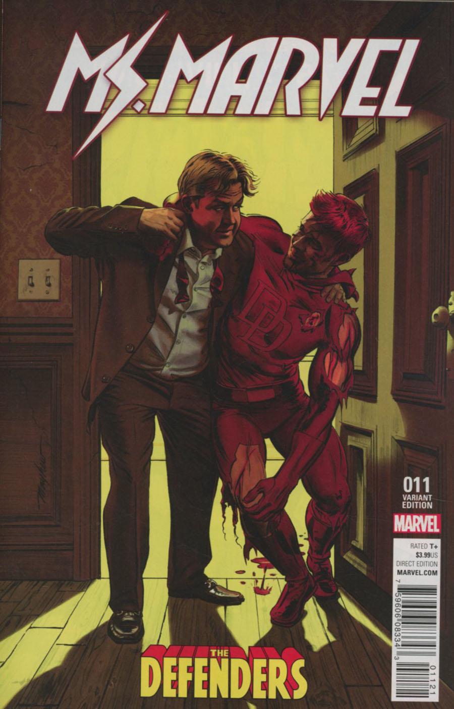 Ms Marvel Vol 4 #11 Cover B Variant Defenders Cover (Civil War II Tie-In)