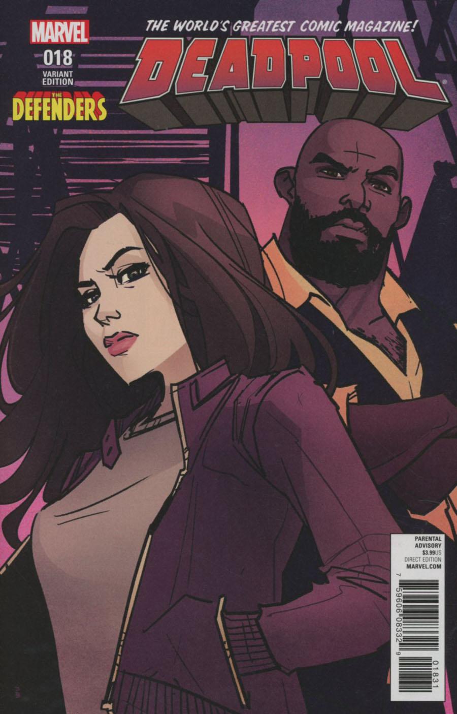 Deadpool Vol 5 #18 Cover C Variant Annie Wu Defenders Cover (Civil War II Tie-In)