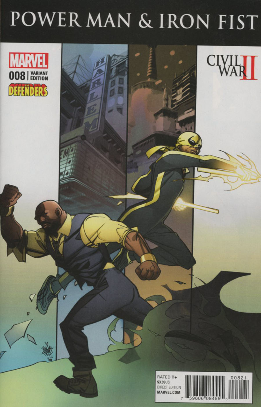 Power Man And Iron Fist Vol 3 #8 Cover B Variant Defenders Cover (Civil War II Tie-In)