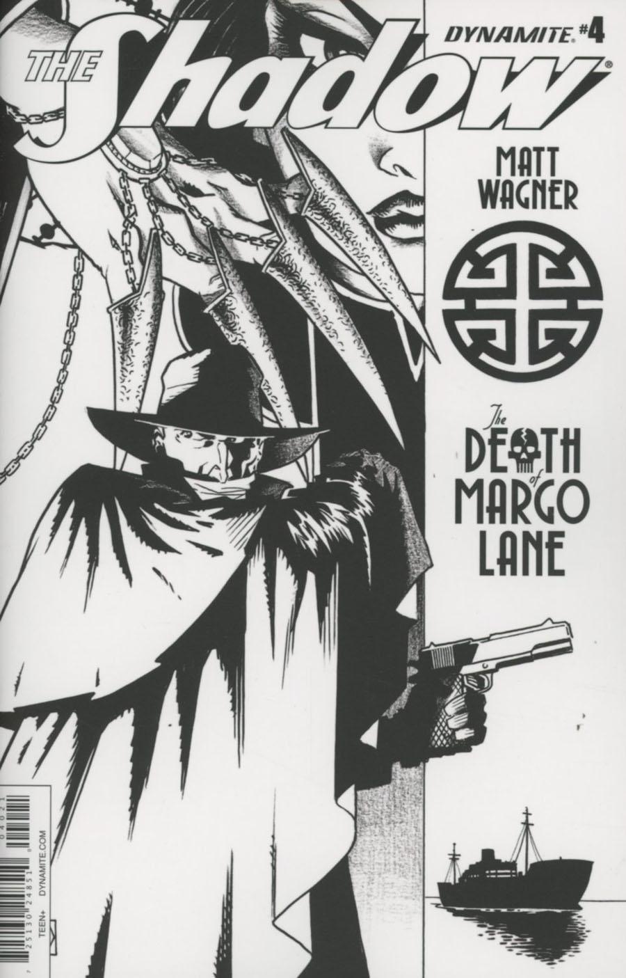 Shadow Death Of Margo Lane #4 Cover B Incentive Matt Wagner Black & White Cover