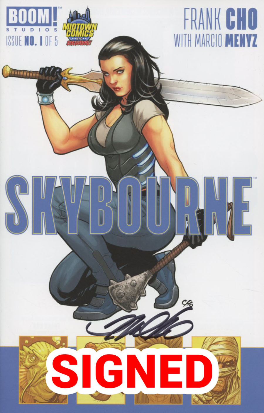 Skybourne #1 Cover E Midtown Exclusive Frank Cho Variant Cover Signed By Frank Cho