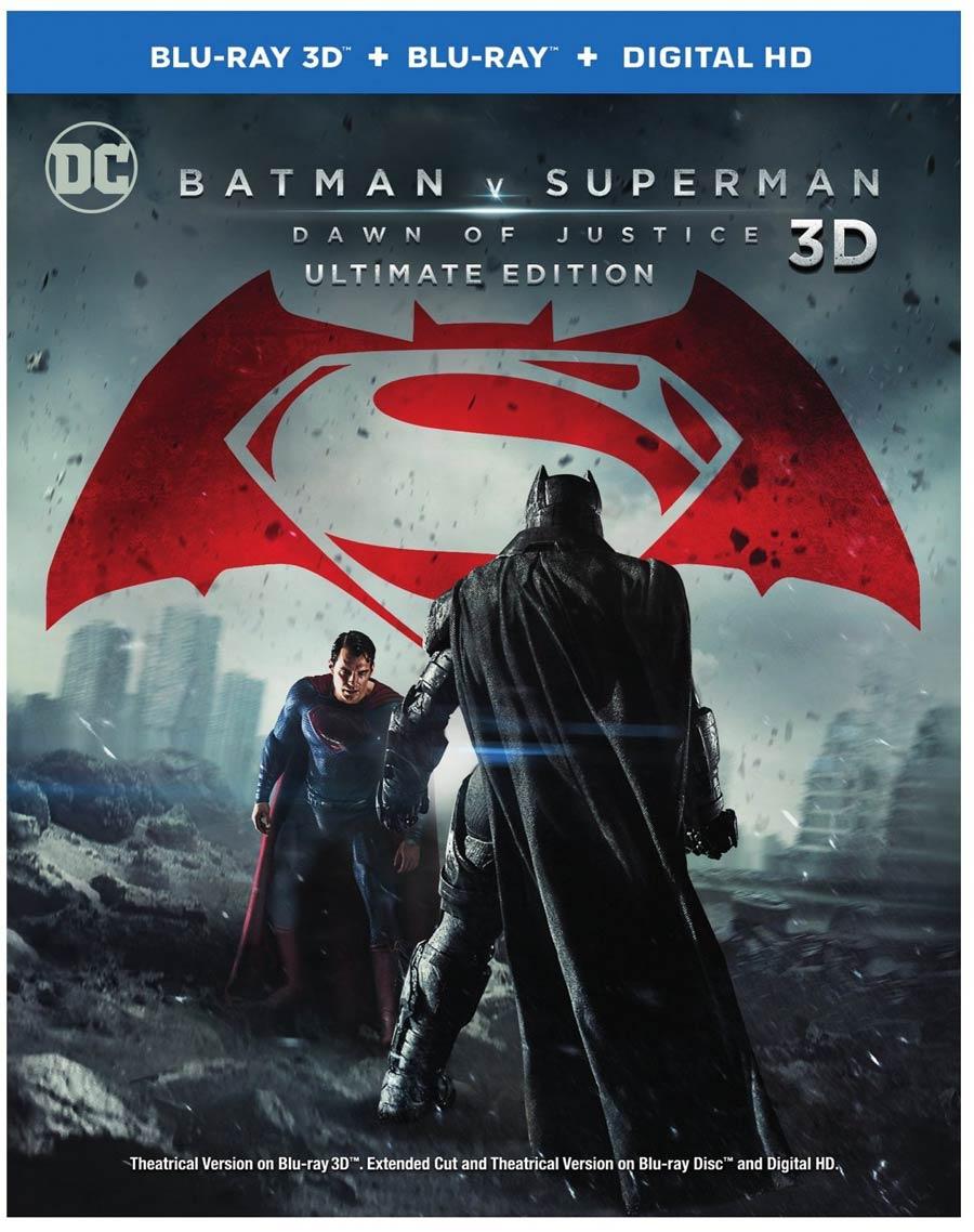 Batman v Superman Dawn Of Justice Rated R 3D Blu-ray DVD