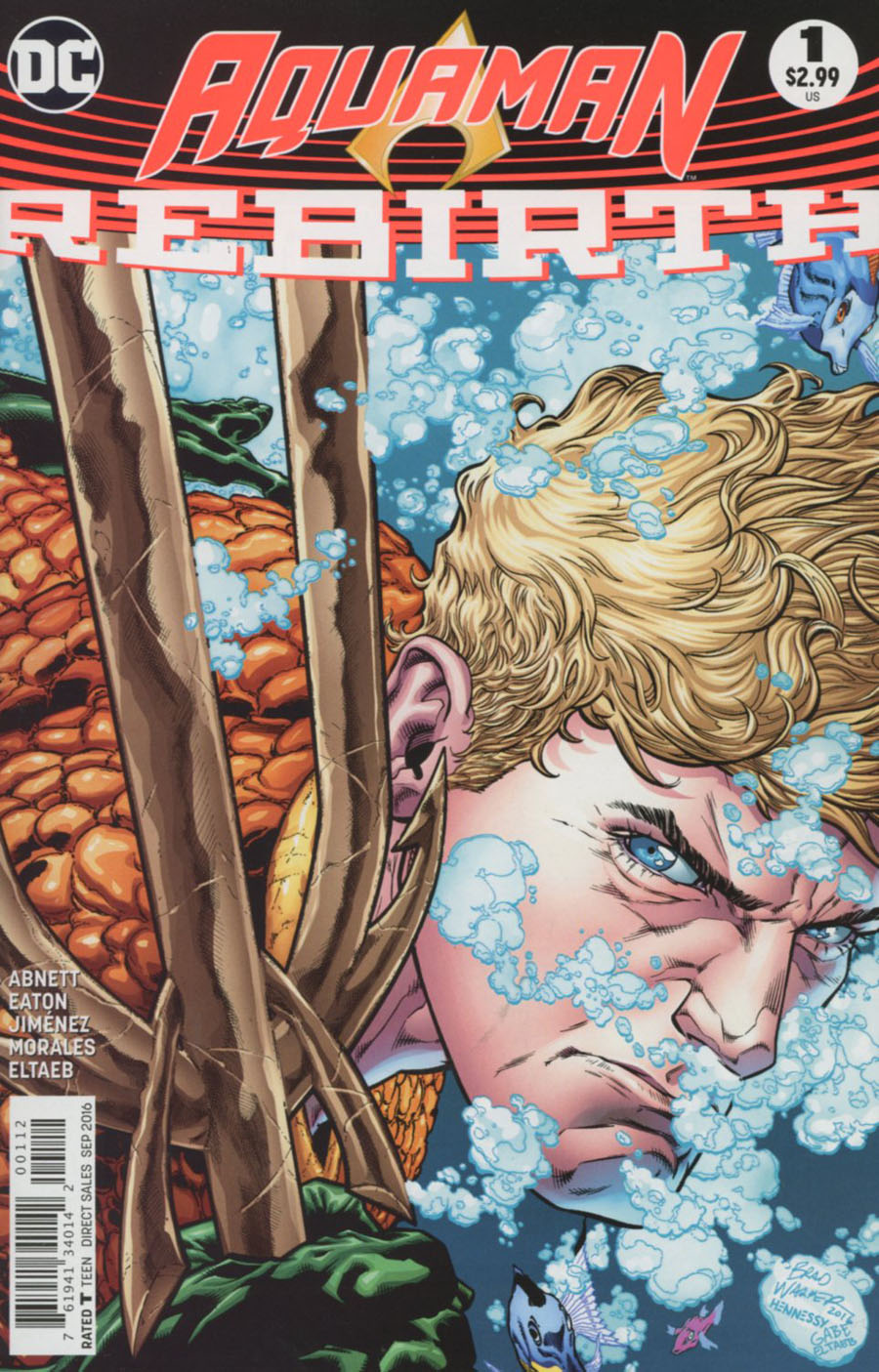 Aquaman Rebirth #1 Cover C 2nd Ptg Brad Walker & Drew Hennessey Variant Cover