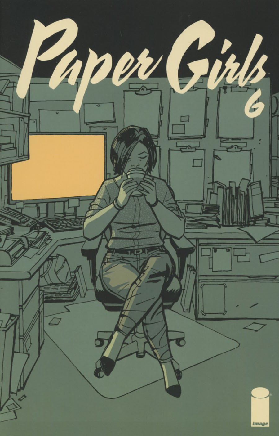 Paper Girls #6 Cover B 2nd Ptg Cliff Chang Variant Cover