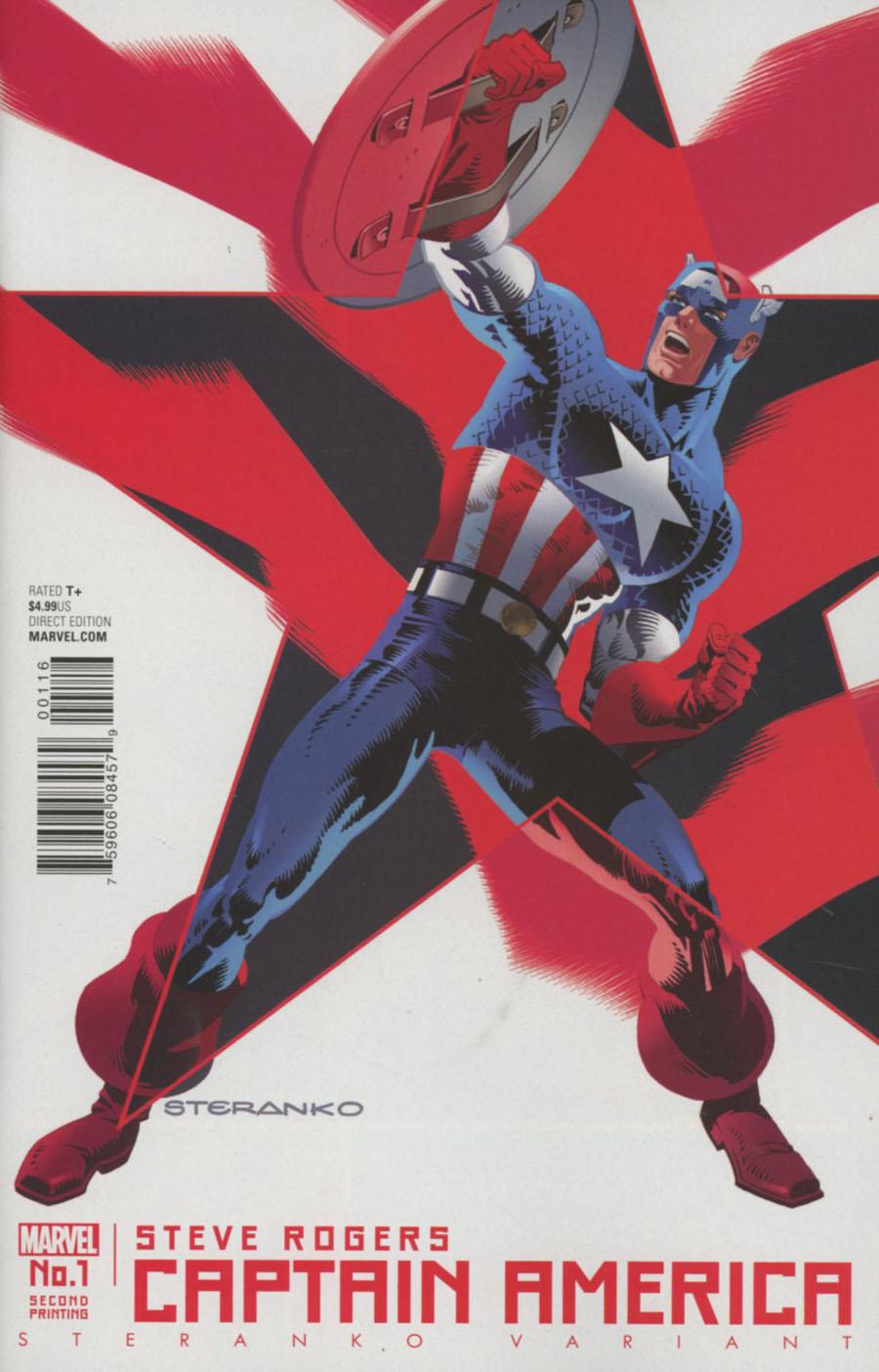Captain America Steve Rogers #1 Cover L 2nd Ptg Jim Steranko Variant Cover