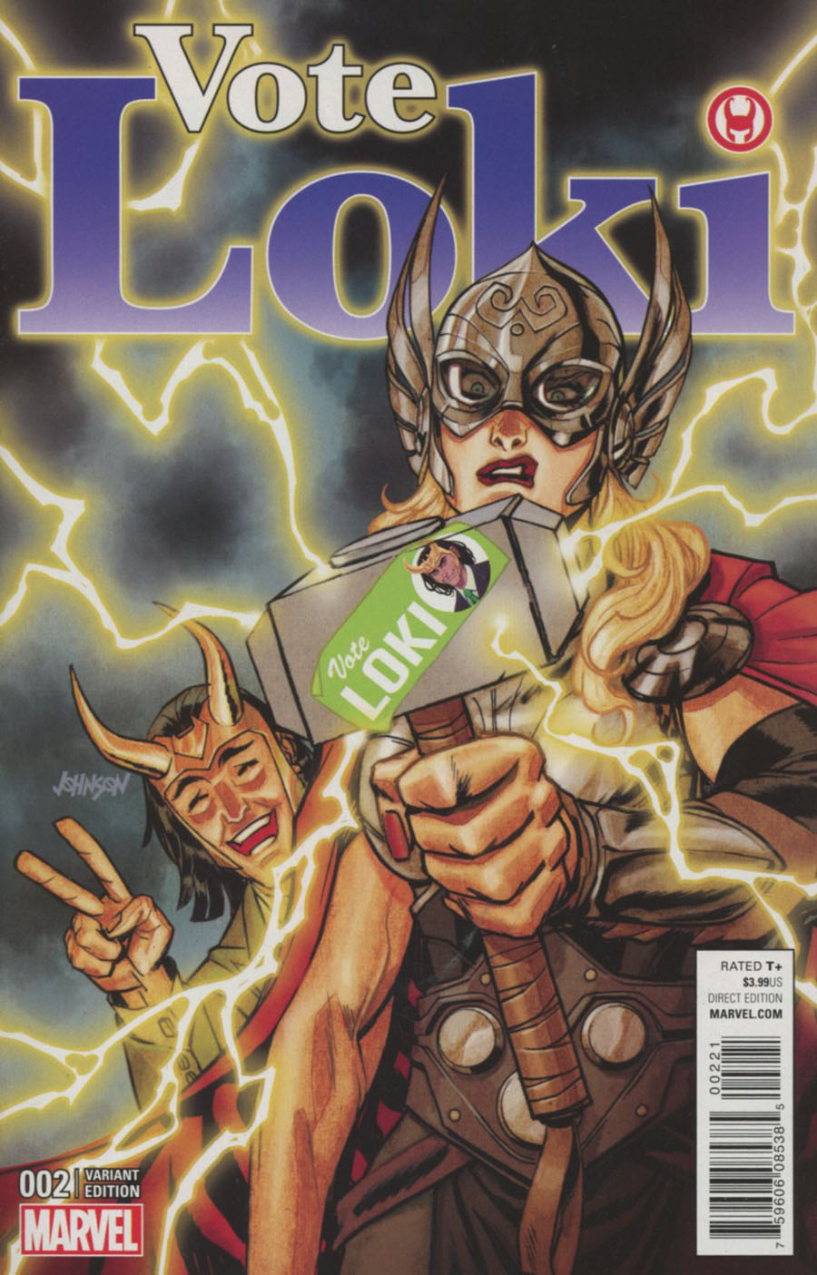 Vote Loki #2 Cover B Incentive Dave Johnson Variant Cover