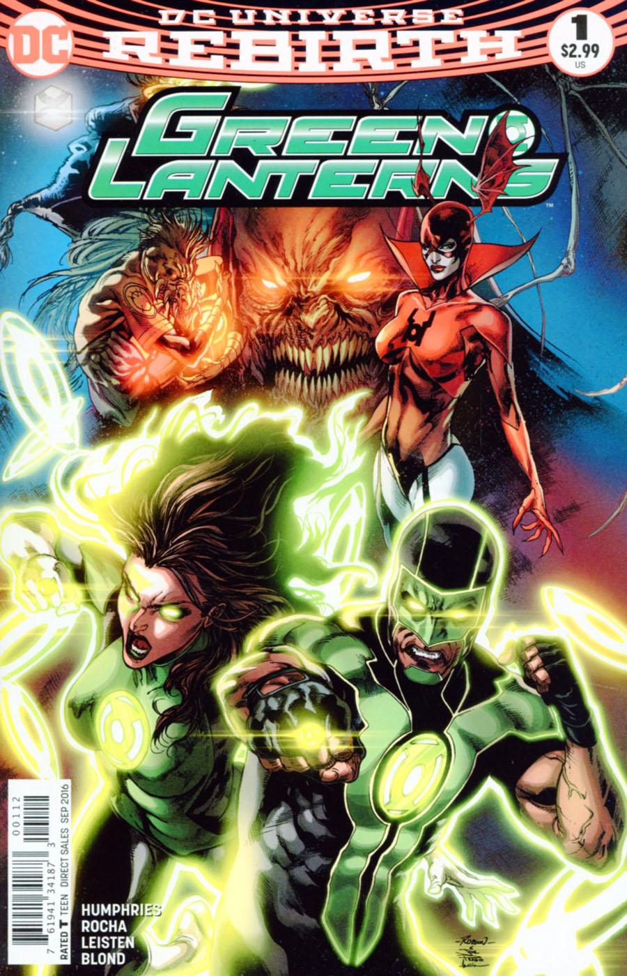 Green Lanterns #1 Cover D 2nd Ptg Variant Robson Rocha & Joe Prado Cover