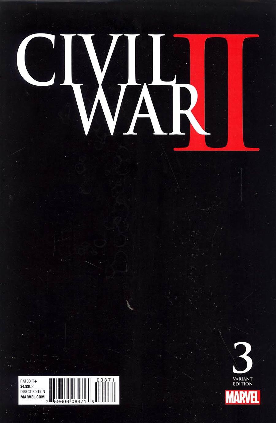 Civil War II #3 Cover D Variant Joe Quesada Midnight Launch Cover