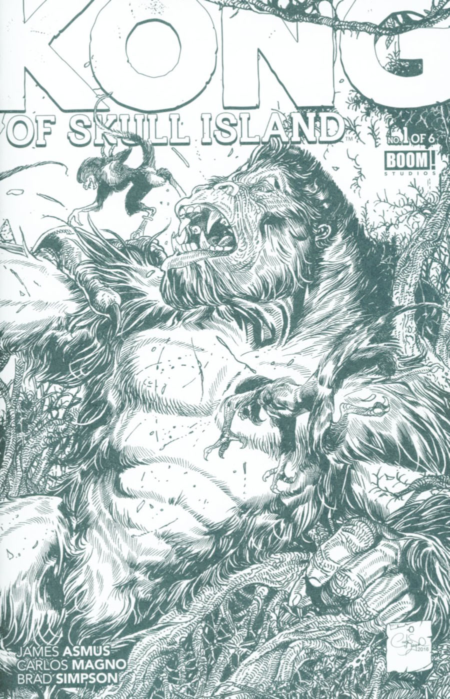 Kong Of Skull Island #1 Cover D Variant Carlos Magno Coloring Book Cover