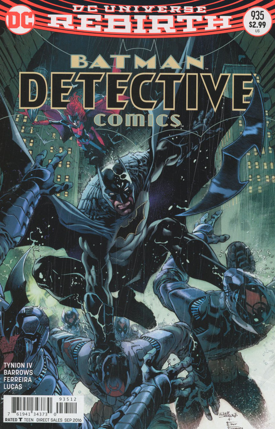 Detective Comics Vol 2 #935 Cover C 2nd Ptg Eddy Barrows & Eber Ferreira Variant Cover