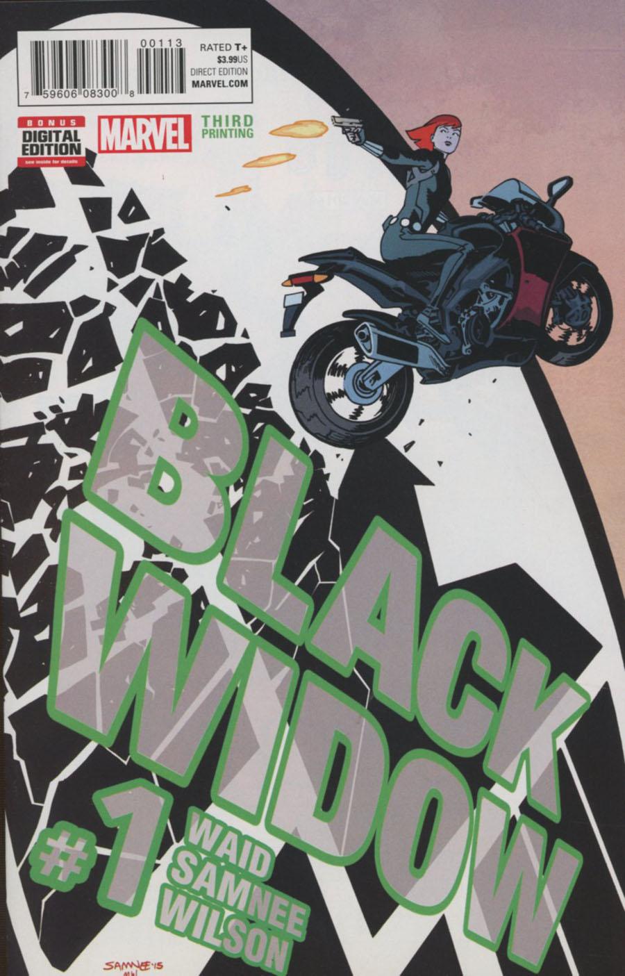 Black Widow Vol 6 #1 Cover H 3rd Ptg Chris Samnee Variant Cover