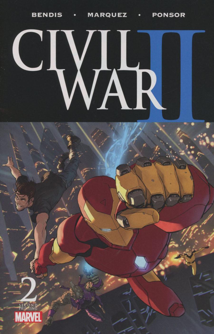 Civil War II #2 Cover F 2nd Ptg Marko Djurdjevic Variant Cover