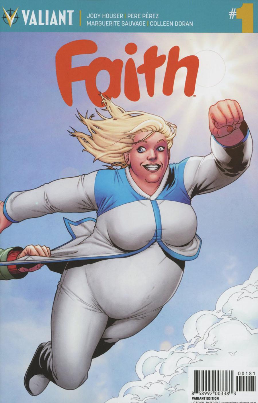 Faith (Valiant Entertainment) Vol 2 #1 Cover H Incentive Pere Perez A&A Interlocking Variant Cover