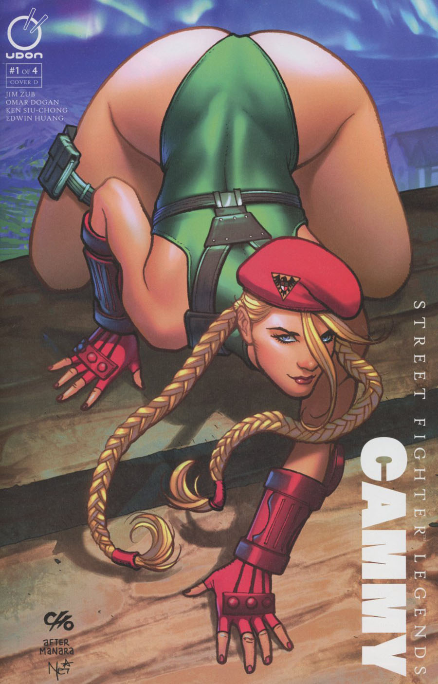 Street Fighter Legends Cammy #1 Cover D Incentive Frank Cho Homage Color Variant Cover