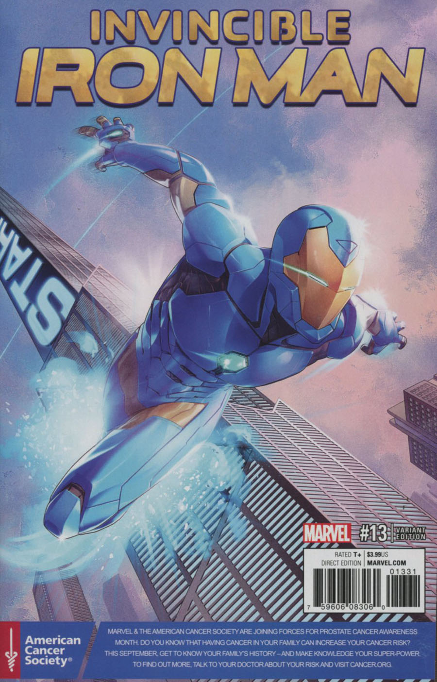 Invincible Iron Man Vol 2 #13 Cover C Variant Jamal Campbell Prostate Awareness Month Cover (Civil War II Tie-In)