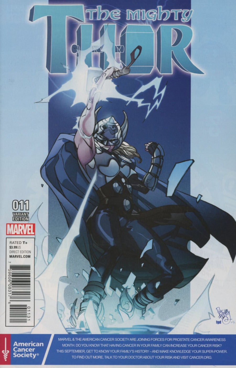 Mighty Thor Vol 2 #11 Cover C Variant Pasqual Ferry Prostate Awareness Month Cover