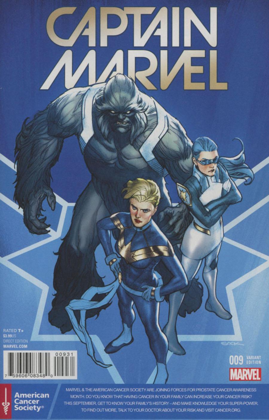 Captain Marvel Vol 8 #9 Cover C Variant Ryan Sook Prostate Awareness Month Cover (Civil War II Tie-In)