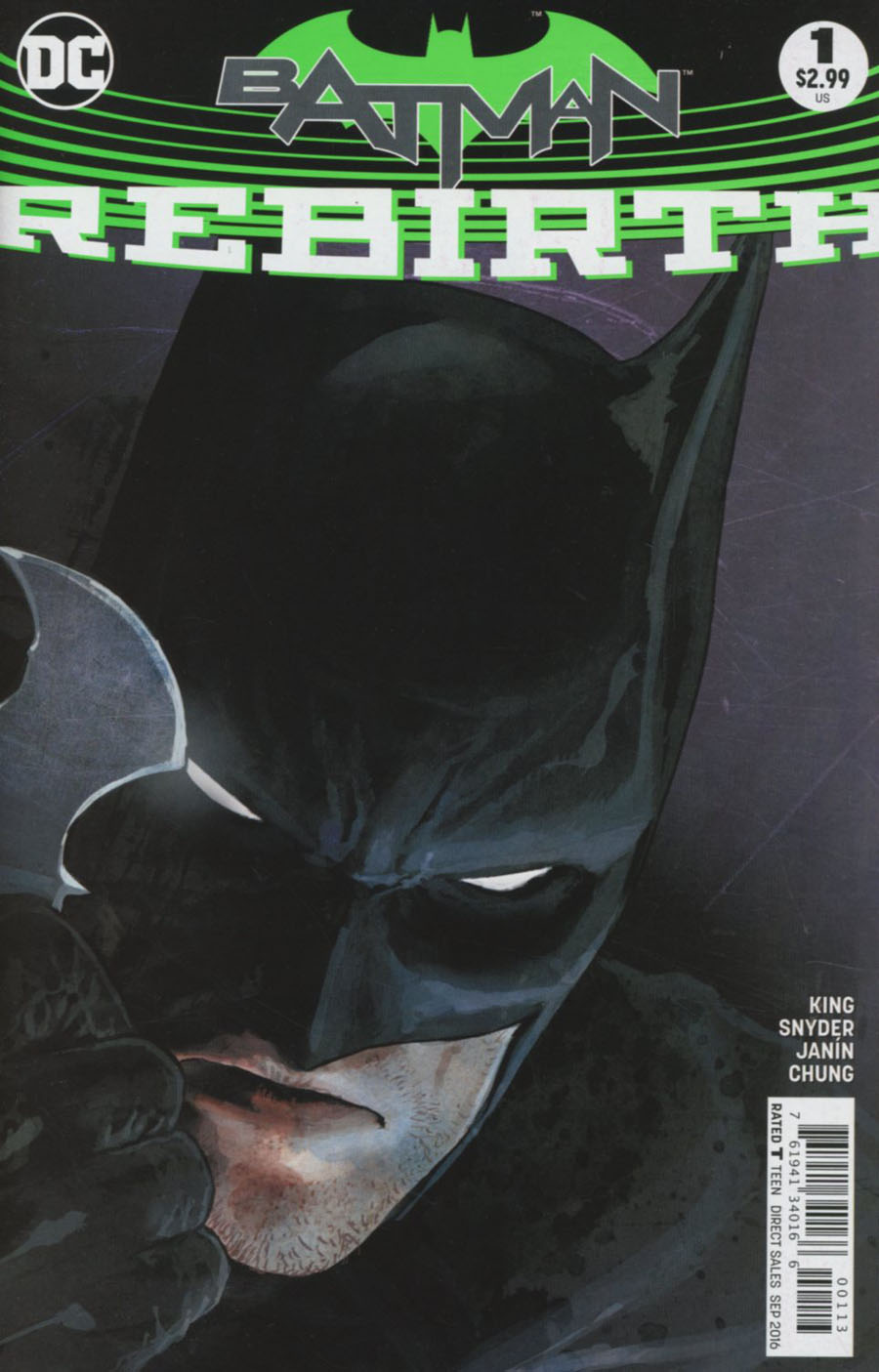 Batman Rebirth #1 Cover D 3rd Ptg Mikel Janin Variant Cover