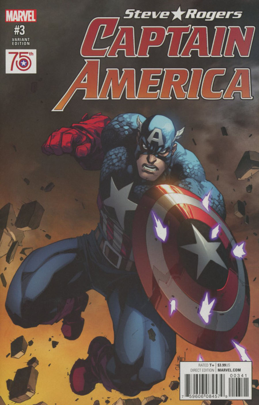 Captain America Steve Rogers #3 Cover D Incentive Joe Madureira Captain America 75th Anniversary Variant Cover