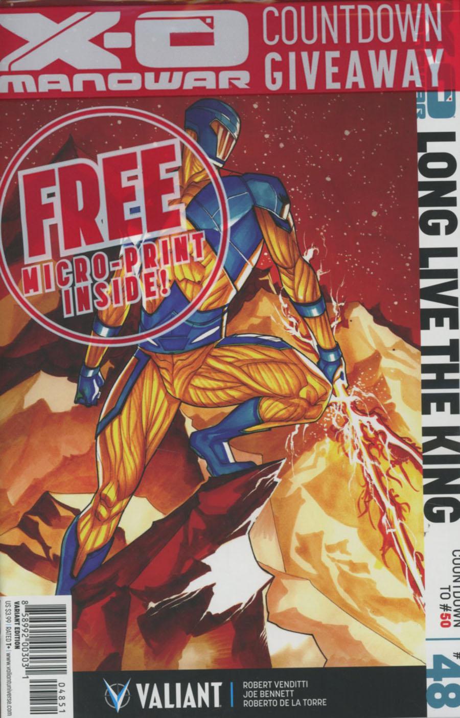 X-O Manowar Vol 3 #48 Cover E Incentive Thony Silas Variant Cover