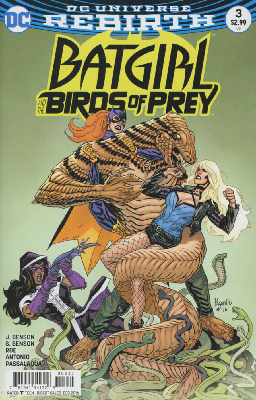 Batgirl And The Birds Of Prey #3 Cover A Regular Yanick Paquette Cover